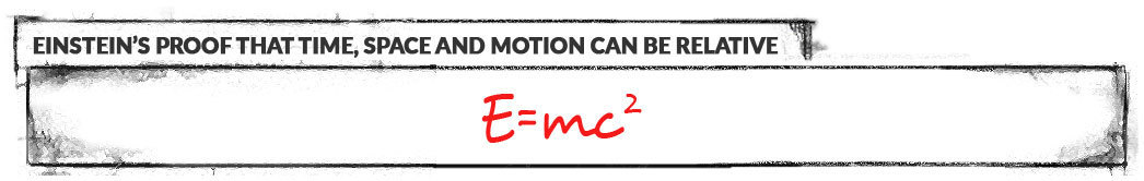 Einstein's proof that Time, Space, and Motion can be relative: E=mc^2