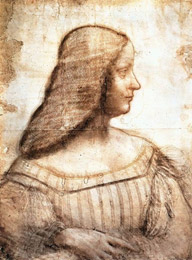 Isabella portrayed by Leonardo da Vinci
